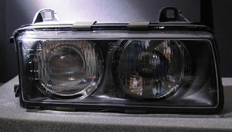 E36 фара противотуманная правая прозрачная